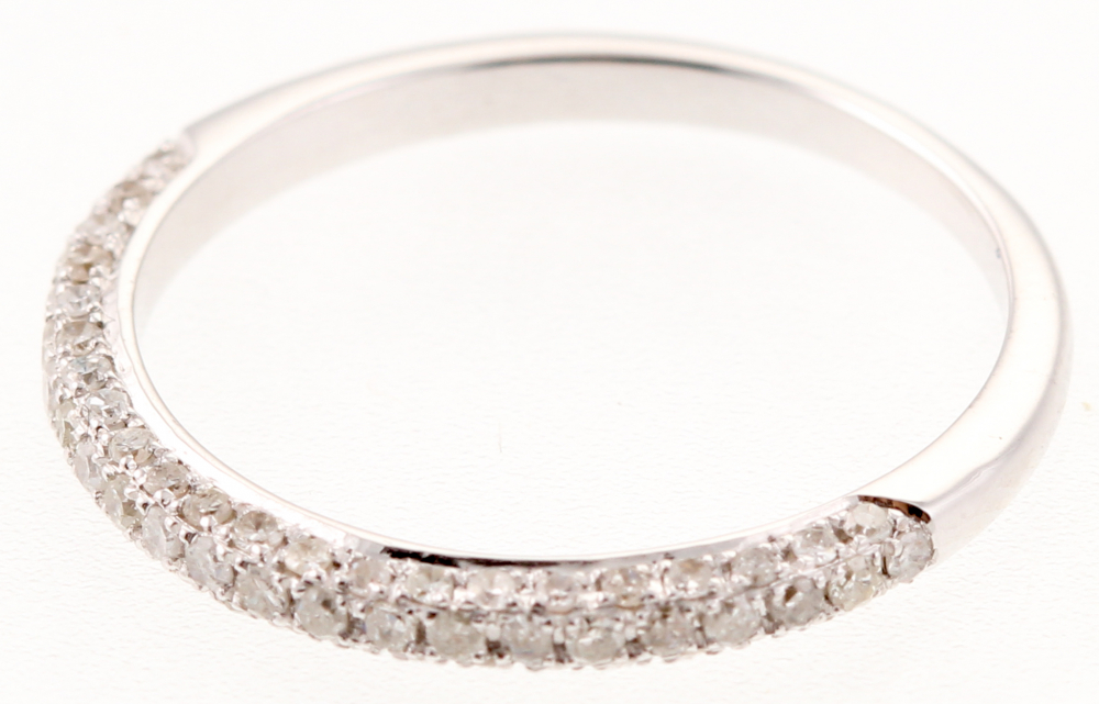 0.42 Ct Certified Diamond 14k White Gold Ring at PristineAuction.com