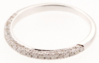 0.42 Ct Certified Diamond 14k White Gold Ring