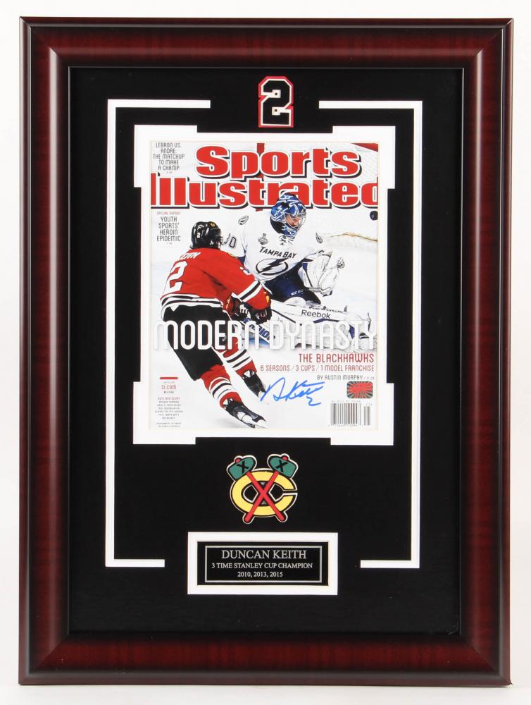de354a15f9c Duncan Keith Signed Chicago Blackhawks 17x23 Custom Framed Photo Display  (Your Sports Memorabilia Store Hologram)