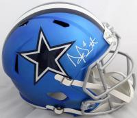 Dak Prescott Signed Cowboys Blaze Full-Size Speed Helmet (JSA COA & Dak Prescott Hologram)