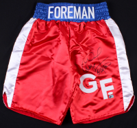 George Foreman Signed Boxing Trunks (JSA COA & Foreman COA) at PristineAuction.com