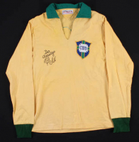 "Pele Signed Brazil 1970 World Cup Jersey Inscribed ""Do Amigo"" (PSA LOA)"