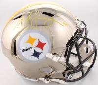 JuJu Smith-Schuster Signed Steelers Full-Size Chrome Alternate Speed Helmet (TSE COA) at PristineAuction.com