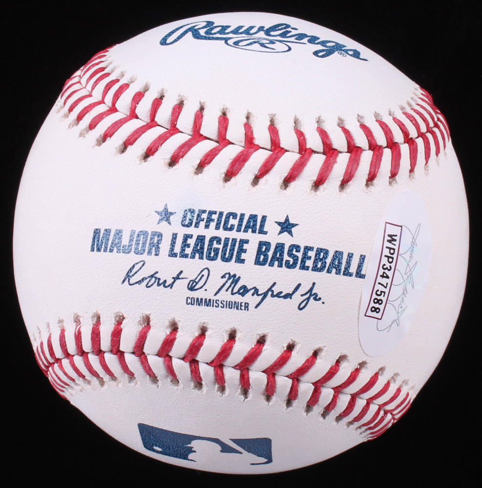 Don Mattingly Signed Oml Baseball Inscribed Quot Donnie