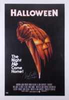 "Nick Castle Signed ""Halloween"" 23x35 Movie Poster Inscribed ""The Shape"" (Beckett COA)"