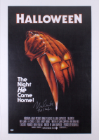 "Nick Castle Signed ""Halloween"" 23x35 Movie Poster Inscribed ""The Shape"" (Beckett Hologram)"