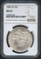 1883-CC $1 Morgan Silver Dollar (NGC MS 63)