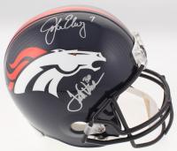 John Elway & Terrell Davis Signed Denver Broncos Full-Size Helmet (Radtke COA & Elway Hologram) at PristineAuction.com
