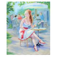 "Taras Sidan Signed ""Juliet"" 20x24 Original Oil on Canvas at PristineAuction.com"