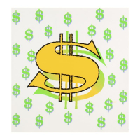 "Steve Kaufman Signed ""Dollar Sign State 3"" Limited Edition 20x20 Silkscreen on Canvas #14/50 at PristineAuction.com"