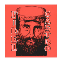 """Steve Kaufman Signed """"Castro"""" Limited Edition 20x20 Silkscreen on Canvas #36/50 at PristineAuction.com"""