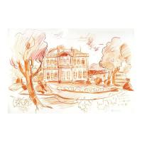 "Wayne Ensrud Signed ""Chateau Gruaud-Larose (Bordeaux)"" 12x17 Pastel Original Artwork at PristineAuction.com"