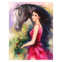 """Taras Sidan Signed """"Lady of the West"""" 12x16 Original Oil on Canvas at PristineAuction.com"""
