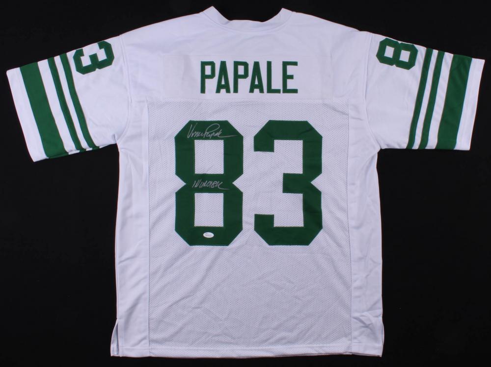 "Vince Papale Signed Philadelphia Eagles Jersey Inscribed ""Invincible"" (JSA COA) at PristineAuction.com"