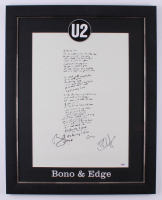 Bono & The Edge Signed U2 23.5x29.5 Custom Framed Poster Display (PSA LOA)