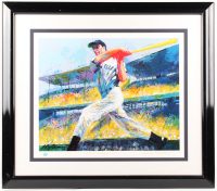 Joe DiMaggio Signed LE Yankees 29 x 32 Custom Framed Leroy Neiman Print Display (DiMaggio Hologram) at PristineAuction.com
