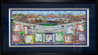 "Charles Fazzino Signed ""In A Yankee State of Mind"" 25x44 Custom Framed Limited Edition Print (Museum Editions COA)"