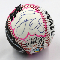 Roger Waters Signed Pink Floyd Baseball Hand-Painted by Charles Fazzino (PSA COA & Museum Editions COA)