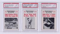 Complete Set of (80) 1961 Nu-Card Scoops Baseball Cards with #402 Warren Spahn / (No-hitter) (PSA 10), #404 Willie Mays : / (Three triples) (PSA 9), #412 Eddie Mathews (PSA 9) at PristineAuction.com