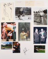 Lot of (49) Assorted 1935-2017 Masters Champions Items with Score Cards, Photos, & Cuts Signed by Jack Nicklaus, Tiger Woods, Arnold Palmer, Hogan Garcia, Fuzzy Zoeller (JSA ALOA & JSA COA) at PristineAuction.com