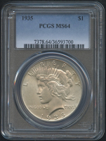 1935 $1 Peace Silver Dollar (PCGS MS 64)