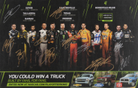 2018 NASCAR Playoffs 11x17 Photo Signed by (12) with Joey Logano, Martin Lee Truex Jr., Kevin Harvick (JSA ALOA)