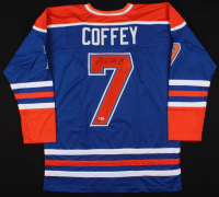 "Paul Coffey Signed Edmonton Oilers Jersey Inscribed ""H.O.F. 04"" (Beckett COA)"