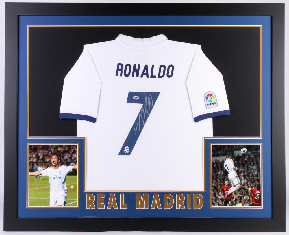 77adfa0a89f Cristiano Ronaldo Signed Real Madrid 35.5