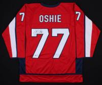 T. J. Oshie Signed Washington Capitals Jersey (Beckett COA)