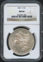 1881-S $1 Morgan Silver Dollar (NGC MS 66)