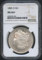 1885-O $1 Morgan Silver Dollar (NGC MS 66+)