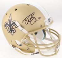 Drew Brees Signed New Orleans Saints Full-Size Custom Matte Gold Helmet (Beckett COA)
