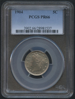 "1904 5¢ Liberty Head ""V"" Nickel - Proof (PCGS PR 66) at PristineAuction.com"