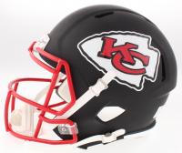 Patrick Mahomes II Signed Kansas City Chiefs Full-Size Custom Matte Black Speed Helmet (JSA COA) at PristineAuction.com