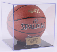 Magic Johnson Signed NBA Basketball with Display Case (PSA COA)