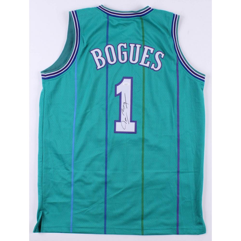 0ddcf95105d Muggsy Bogues Signed Charlotte Hornets Jersey (JSA COA)