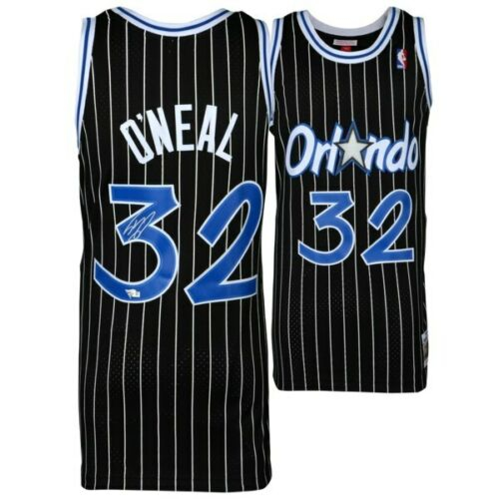 b0a7d7765 Shaquille O Neal Signed Mitchell   Ness 1994-95 Pinstripe Orlando Magic  Jersey (