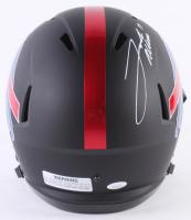 Josh Allen Signed Buffalo Bills Custom Matte Black Full-Size Speed Helmet (JSA COA) at PristineAuction.com