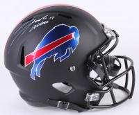 Josh Allen Signed Buffalo Bills Custom Matte Black Full-Size Speed Helmet (JSA COA)