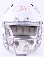 Tom Brady Signed LE New England Patriots Custom Matte White ICE Full-Size Speed Helmet (Tristar Hologram & Steiner COA)