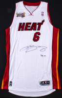"LeBron James Signed LE Miami Heat Adidas Jersey With ""Back2Back"" NBA Champions Patch (UDA Hologram)"