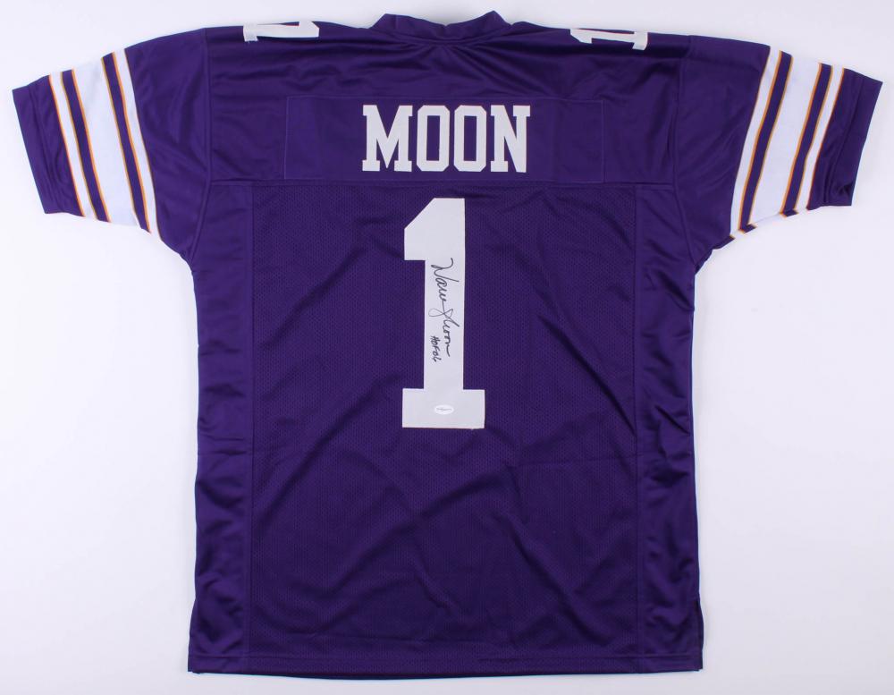 fcd4d135756 Warren Moon Signed Minnesota Vikings Jersey Inscribed