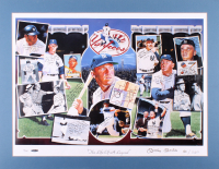 "Mickey Mantle Signed New York Yankees ""The Life of a Legend"" 22.5x29 Custom Matted Limited Edition Lithograph Display (JSA Hologram & UDA Hologram)"