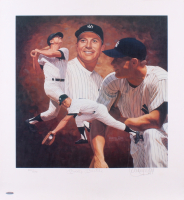 Mickey Mantle Signed New York Yankees 22x24 Limited Edition Lithograph (UDA Hologram)