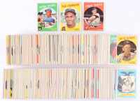 "1959 Topps Complete Set of (572) Baseball Cards With Bob Gibson Signed #514 RC Inscribed ""HOF 81"" (PSA 4) (Beckett COA)"