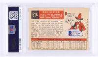 """1959 Topps Complete Set of (572) Baseball Cards With Bob Gibson Signed #514 RC Inscribed """"HOF 81"""" (PSA 4) (Beckett COA) at PristineAuction.com"""