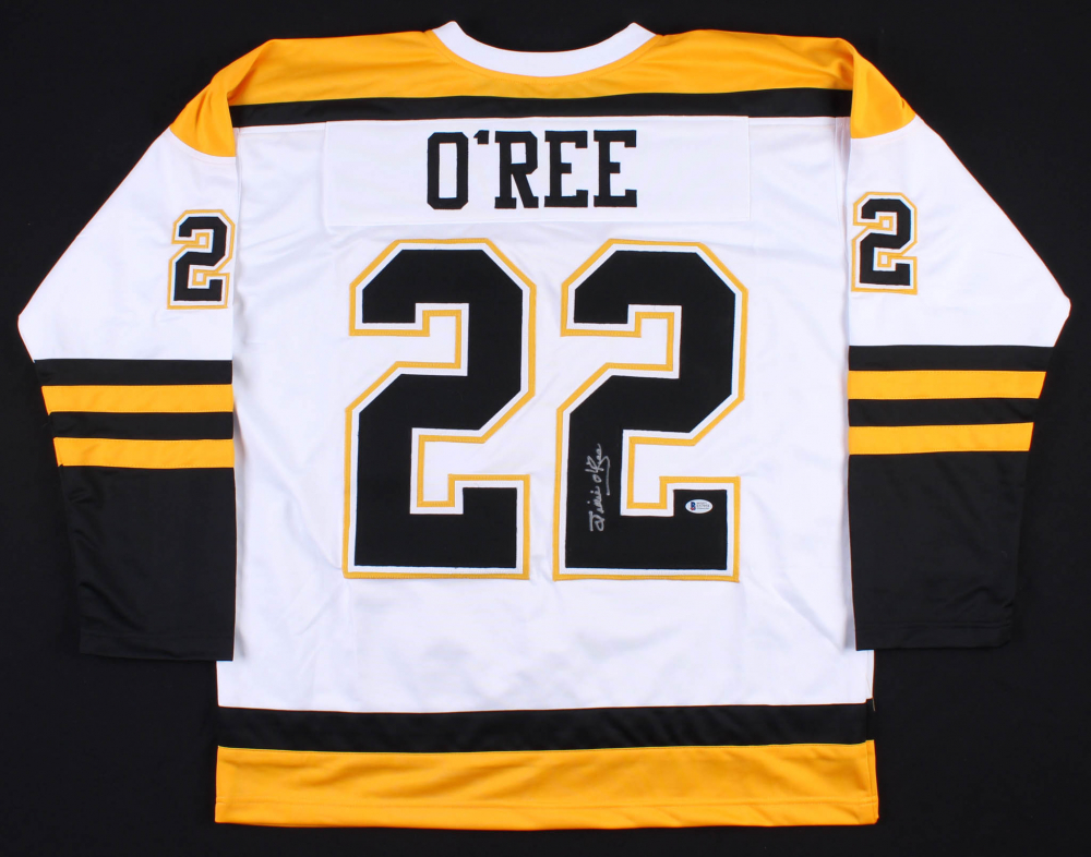 Willie O'Ree Signed Boston Bruins Jersey (Beckett COA ...