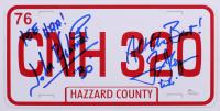 "John Schneider & Tom Wopat Signed ""The Dukes of Hazzard"" License Plate with Multiple Inscriptions (JSA Hologram)"