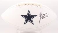 Roger Staubach Signed Dallas Cowboys Logo Football (Beckett COA)