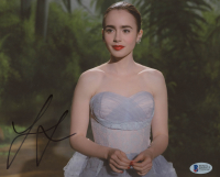 Lily Collins Signed 8x10 Photo (Beckett COA) at PristineAuction.com